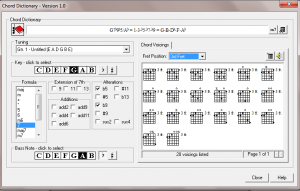 PowerTab Chord Dictionary