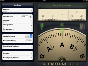 Cleartune Chromatic Tuner app